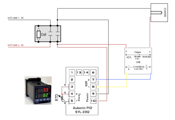 simple electric control 220v wiring help
